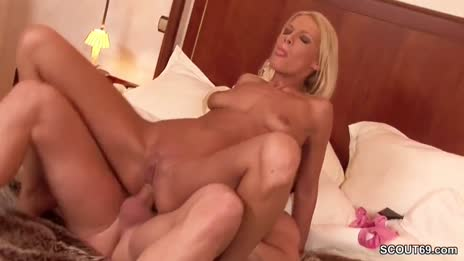 Blonde anal fucked by stranger
