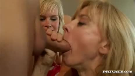 Nina takes cum of son-in-law