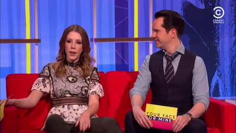 Katherine Ryan spreads her legs for the British public