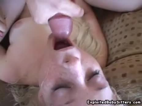 Blonde gets cum
