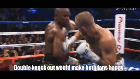 Double knock out would make both fans happy  #McGregorVsMayweather gif