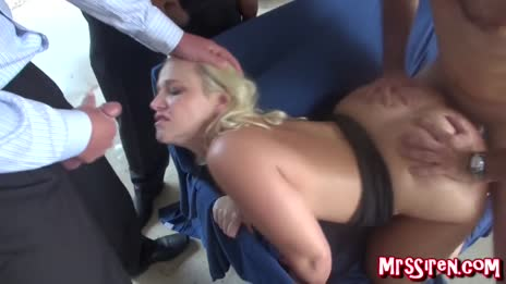 Husband cums in her face while she bangs around