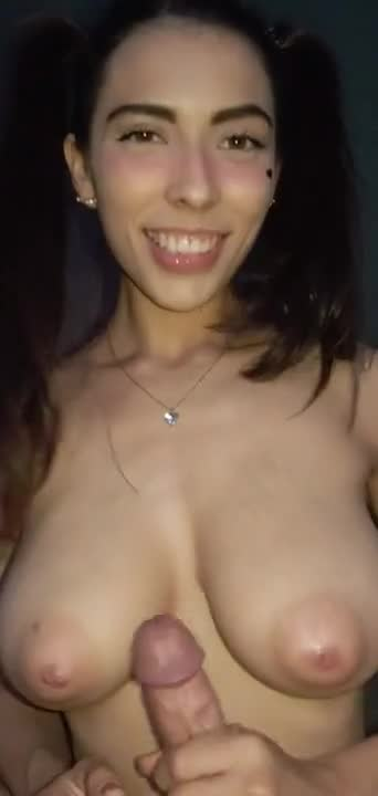 PETITE TEENAGER GETS HORNY FOR A BIG COCK