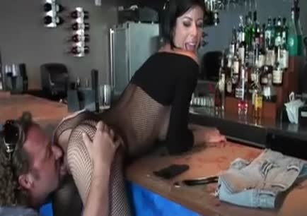 Sexy mom has sex in the bar gif