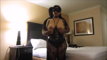 slave gets tits pulled gif