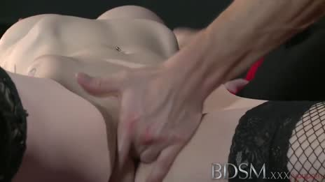BDSM XXX Master shows his softer side to young horny submissive