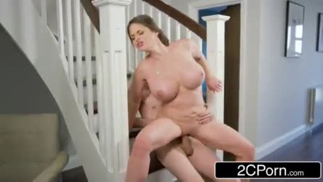 Cathy Heaven standing reverse cowgirl