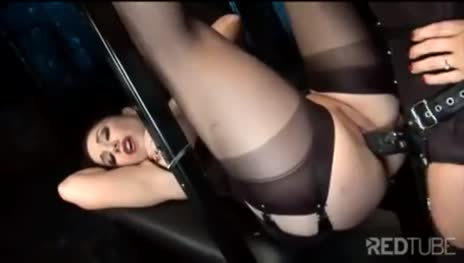 Bitch strap-on fucked