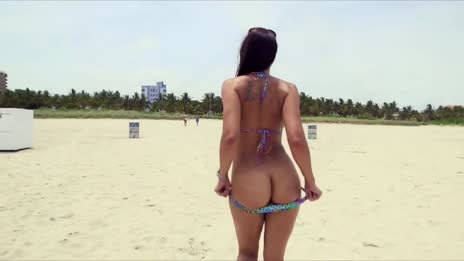 Rachel Starr Exposing Bare Ass on Beach