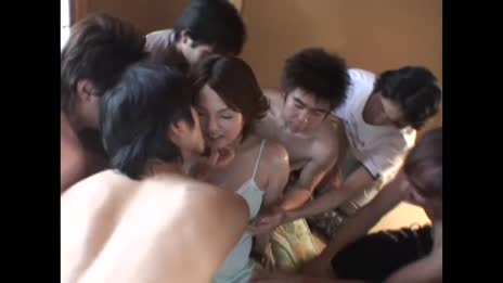 japanese chick gangbanged