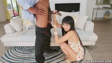 giggly asian girl strokes bbc 3