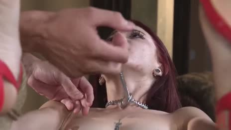 Bound redhead whining
