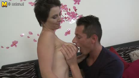 young boy feasts on a boob