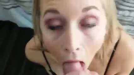 Blonde cumslut