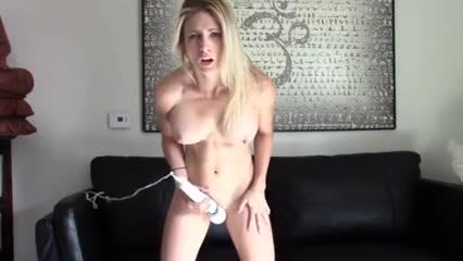 she's preparing to cum while standing