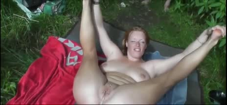 MILF In July with Strangers on the grass by the lake gif