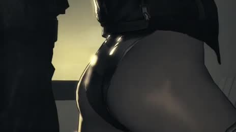 Major Motoko Kusanagi get her sexy butt slap and grab