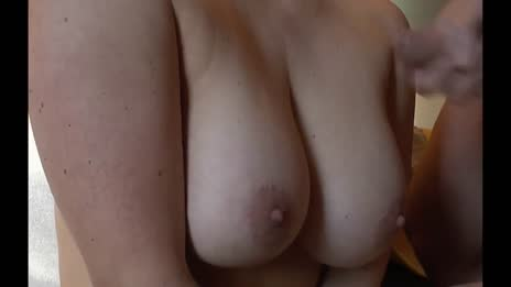 Huge Tits Get Covered in a Big Load