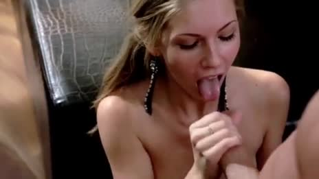 Cumming on eager blonde