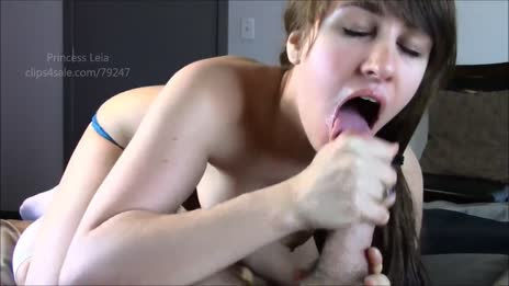 cum on her tongue