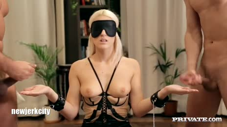 Blanche Bradburry Is Handcuffed Blindfolded A