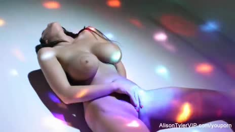 Sexy big boobed disco ball bab