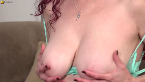 pale mom shows you her soft tits