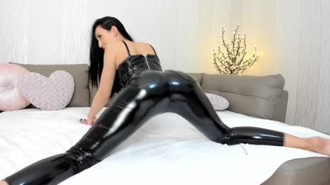 Leather pants ass