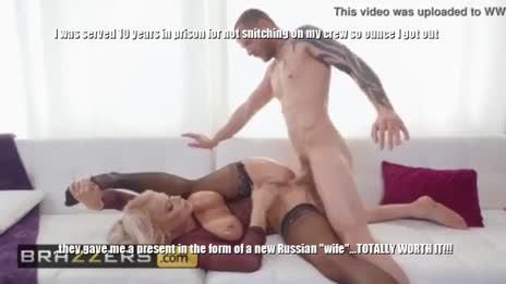 Ex-con uses new Russian wife's ass