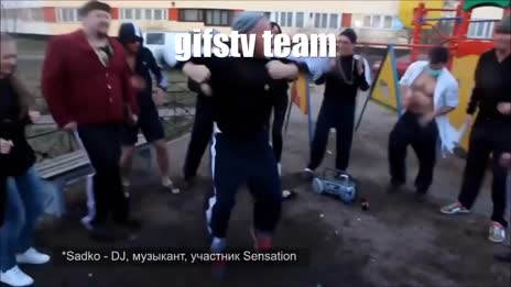 """gifstv team after successful """"caption feature"""" release gif"""