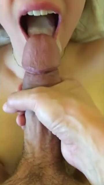 me swallowing cum