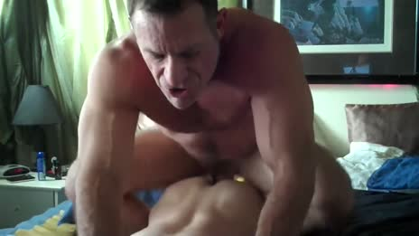 Muscle daddy drills son
