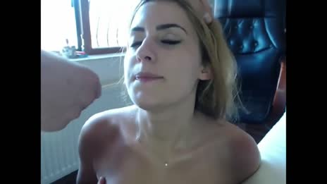 Huge amateur facial