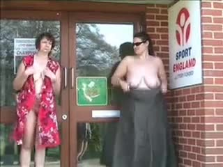 naked matures in public