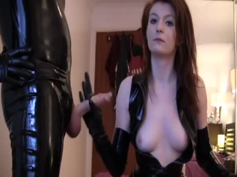 latex handjob