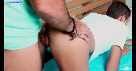 Connie gets cum on her ass