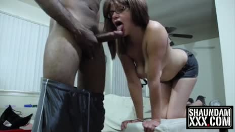 saggy young mom gets a present