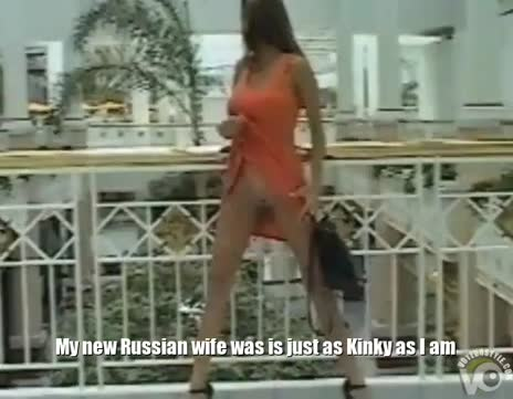 Russian Milf Exhibitionist Wife