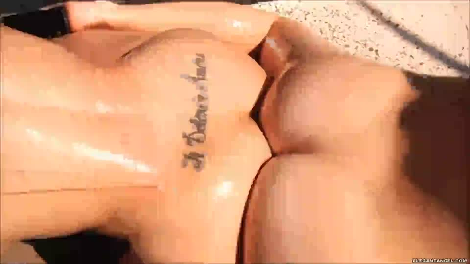 Two Oiled Asses gif